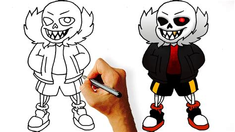 How To Draw Underfell Sans how to draw underfell sans undertale aus