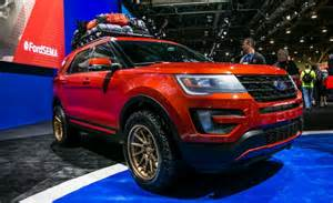 Lifted Ford Edge Ford Previews Edge And Explorer Based Sema Concepts Car