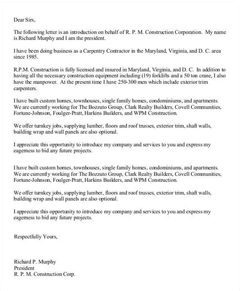 Introduction Letter Of Transport Company 32 business letter template free premium templates