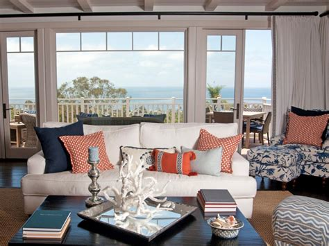 Coastal Inspired Living Rooms by Coastal Living Room Ideas Living Room And Dining Room Decorating Ideas And Design Hgtv