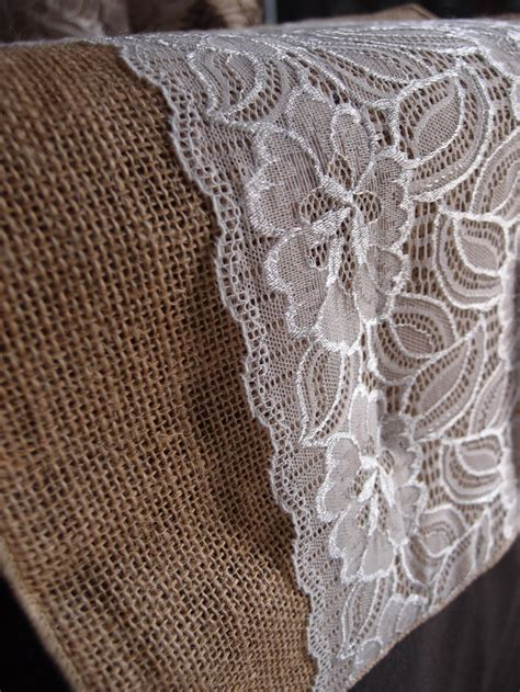 burlap table runners with lace for sale vintage burlap and lace style no 2 wedding table runner