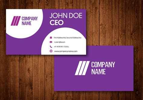 Free Business Card Templates Purple by Creative Purple Business Cards Free Vector