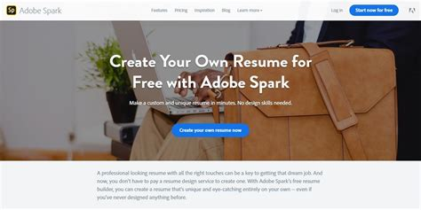 Best Professional Online Resume Builders 187 Css Author Adobe Spark Templates