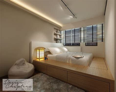 master bedroom   platform bed design    serves  aesthetic function