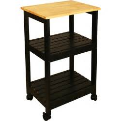 catskill craftsmen utility kitchen cart black walmart