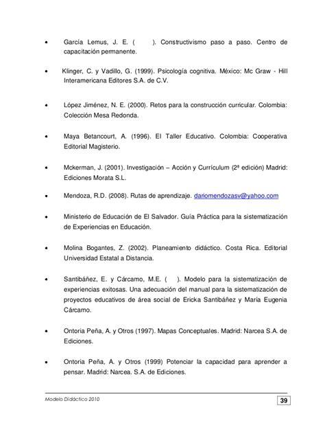 Modelo Curricular Verbal Didactico Modelo Didactico Para La Formacion De Profesionales 2010