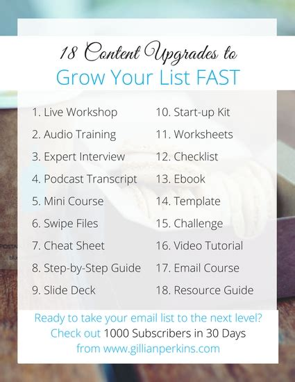 is there a in your list how to overcome obstacles that keep you from achieving your goals books 18 content upgrades to grow your list fast