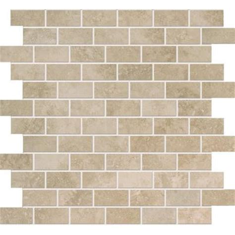 1 X 2 Inch Ceramic Tile - modamo noce ceramic mosaic 1 inch x 2 inches home