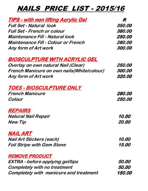 Nail Price List In India