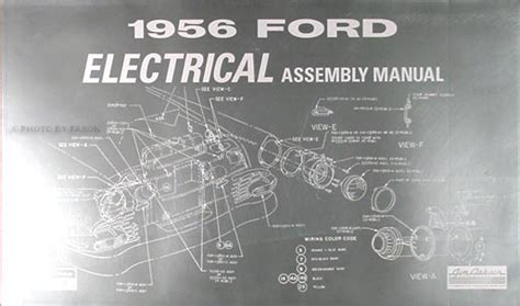 1956 ford car thunderbird wiring diagram manual reprint