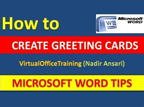 how to make a birthday card on microsoft word 2007 word tips and tricks how to create greeting cards in