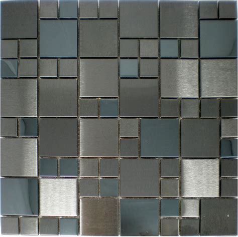 metal mosaic tiles backsplash smmt050 stainless steel wall