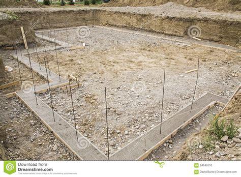 Construction Basement Footings Rebar Excavated Stock Photo Concrete Basement Construction
