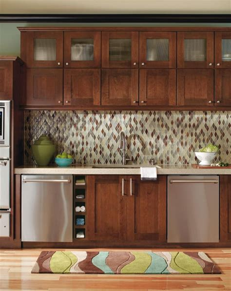 kitchen cabinets cherry finish this contemporary decora kitchen brings instant comfort to