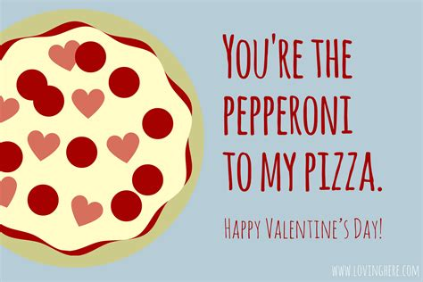 pizza valentines card template sweet treats free foodie printable cards