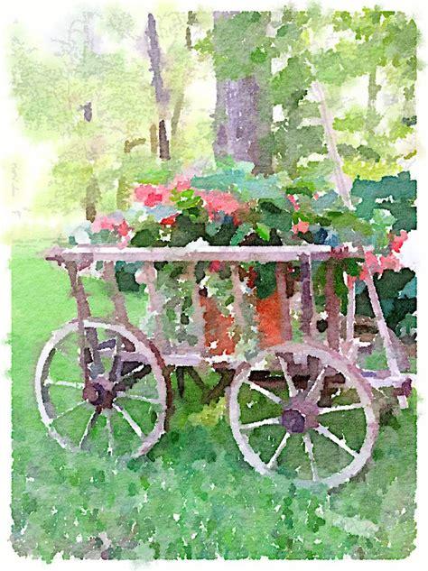 Garden Flower Cart Flower Cart An Artful Garden