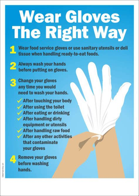 Should Food Servers Wear Gloves by Personal Hygiene Posters Safety Poster Shop