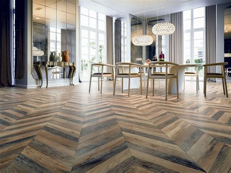 Versailles Bedroom chevron tile herringbone wood look tile floor