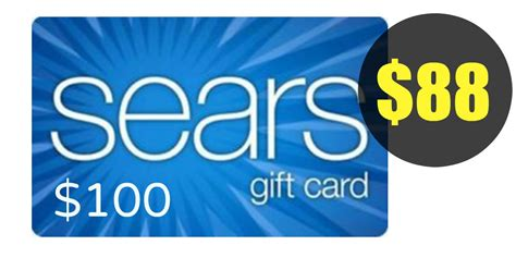 Sears Discount Gift Card - get a 100 sears gift card for only 88