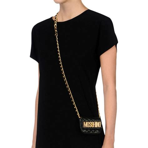 Sandradewi Fendi Bag Code Fendi 8009 1 moschino gold logo quilted leather small pochette black