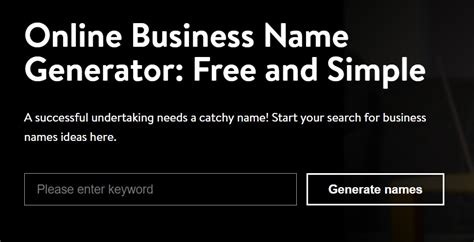 company names for sale 26 free business name generators to find the best brand names
