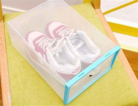 Meja Plastik Bongkar Pasang kotak sepatu lipat bongkar pasang praktis simpan sepatu