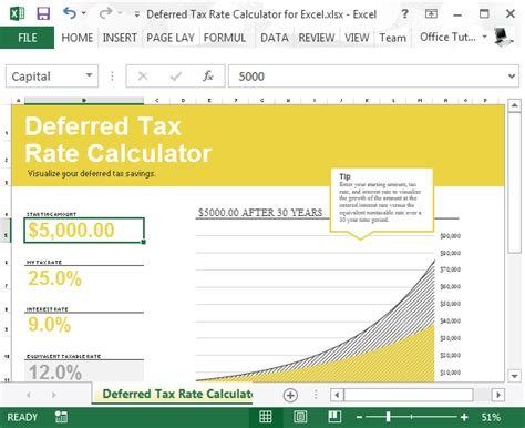 Deferred Tax Calculation Template deferred tax rate calculator for excel