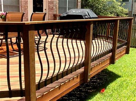 Iron Deck Balusters Deck Railing Ideas How To Choose The Best Rail Design For
