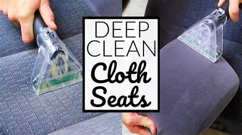 how to deep clean car upholstery how to deep clean cloth car seats car interior detailing