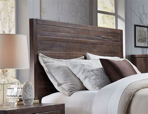 solid headboard 4 piece modus townsend solid wood bedroom set