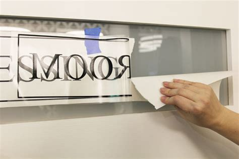 glass in a b label door diy with style how to create a custom door label with