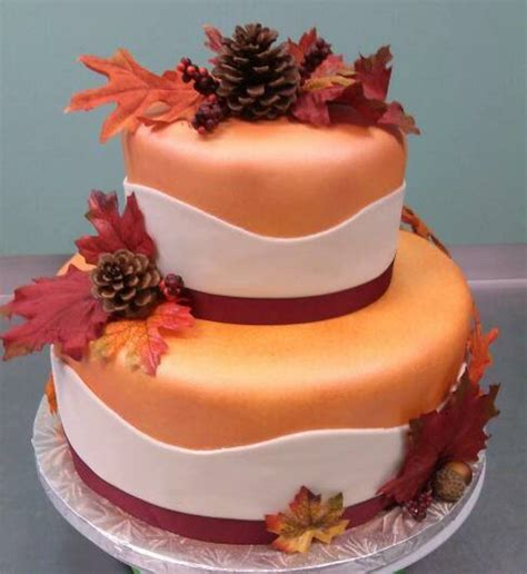 autumn bridal shower cakes fall in was the theme for this bridal shower cake