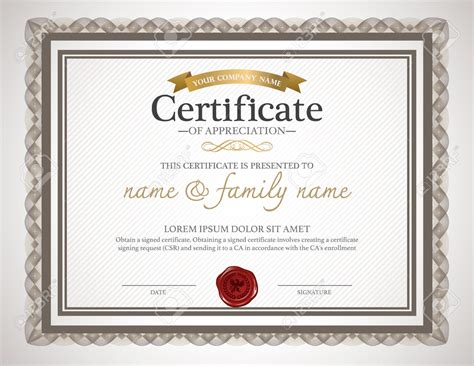 customized certificate templates certificate design template