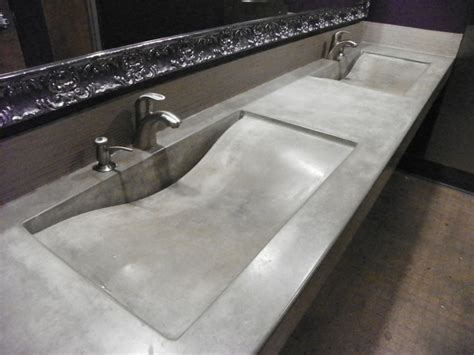 concrete bathroom sinks integral concrete sinks