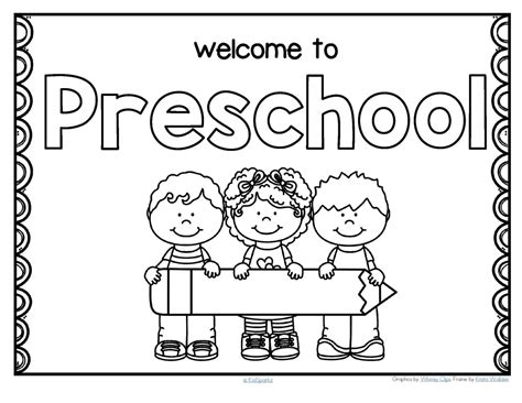 preschool coloring pages about school free back to school welcome poster for preschool
