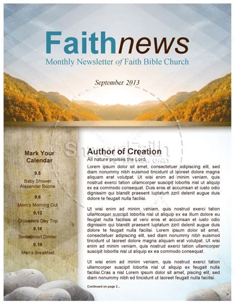 My Soul Rejoice Church Newsletter Religious Newsletter Templates Free