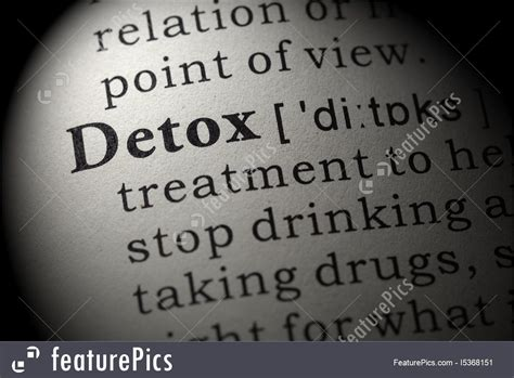 Meaning Detox by Signs And Info Definition Of Detox Stock Image I5368151