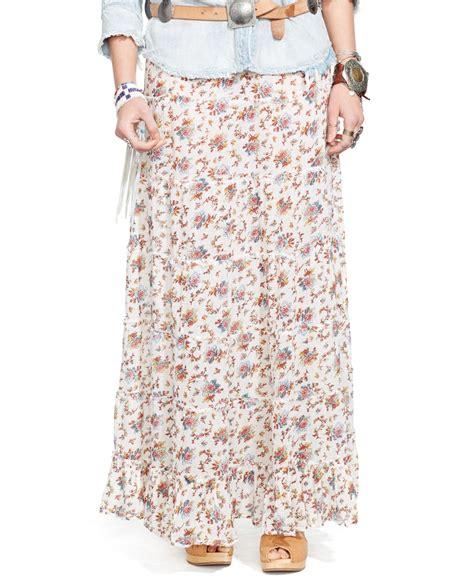 denim supply ralph white floral print tiered