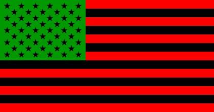 american flag by david hammons u s