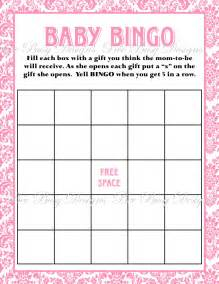 Baby Shower Bingo Cards Template by Printable Pink Damask Baby Shower Bingo Bee Busy