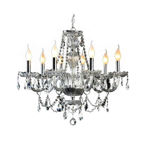 How To Decorate A Chandelier With Crystals Decor Living 8 Light And Chrome Chandelier 104993 15 The Home Depot