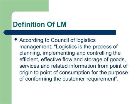 design logistics meaning logistics management