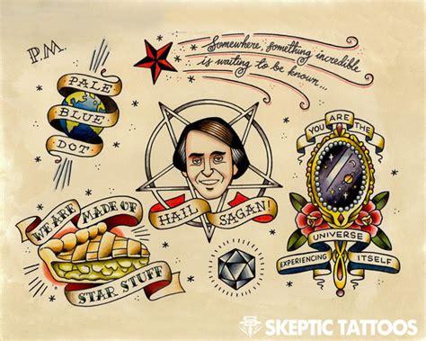 carl sagan tattoo carl sagan gallery skeptic tattoos