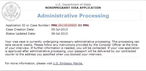 how long can you be sectioned for my visa was denied and i was placed on administrative