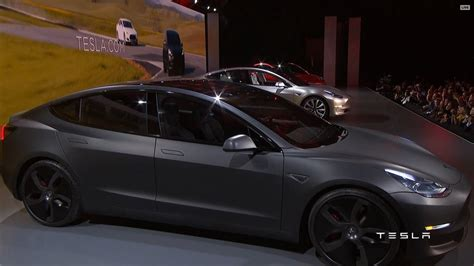 Tesla Rumors Tesla Unveils 35 000 Model 3 Electric Car Shipping Late