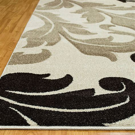 leaf pattern area rugs furniture of america arnuad rg5157 ivory leaf design 5 x 8
