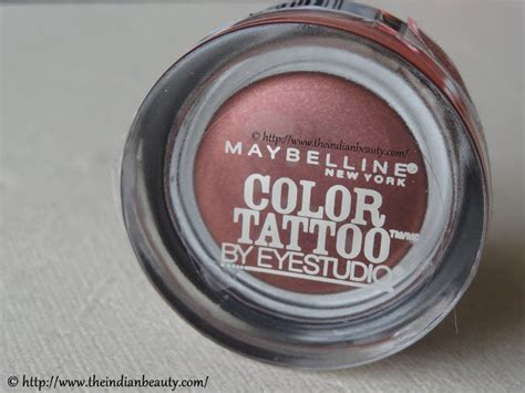 maybelline color tattoo online india maybelline color tattoo pomegranate punk review eotd