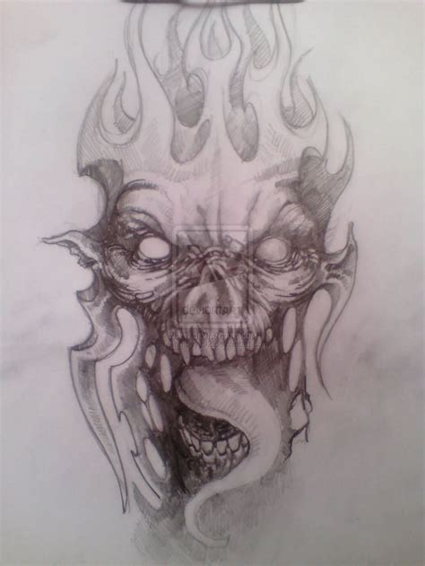 flaming skull tattoo designs images designs