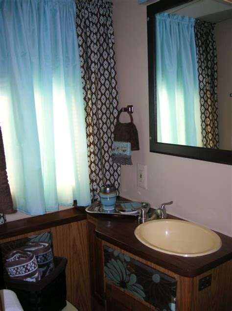 Small Trailer With Bathroom Rv Trailer Bathroom Redo Rv Cer And Trailer Style Pinterest Rv Trailer Trailers And