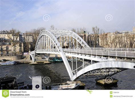 steel bridge  seine river stock images image